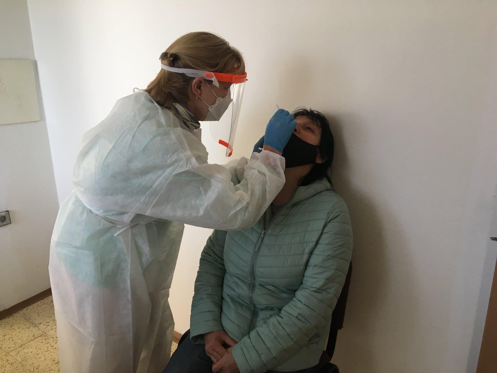 Testování na covid-19 v Blatné